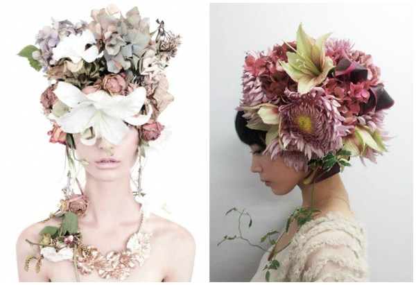 pink floral headpieces