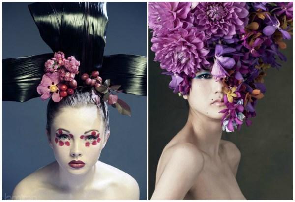 purple floral headpiecs