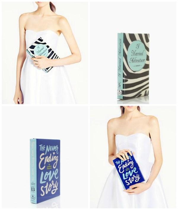 Kate Spade book clutches