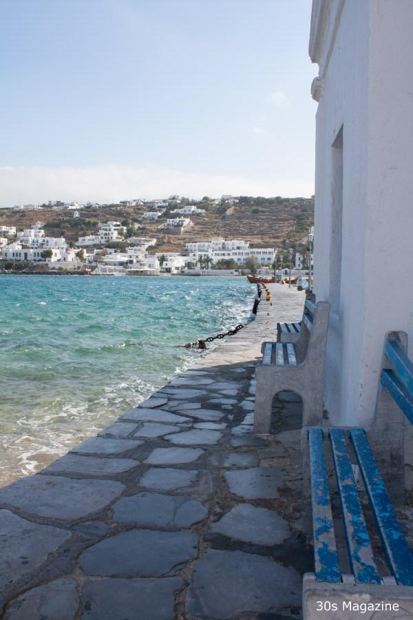 mykonos sea shore