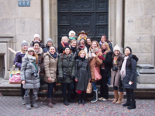 Our group of bloggers in Hanover. Inga standing front middle