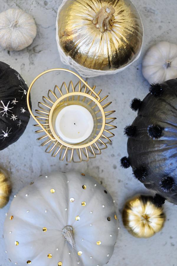 Glam DIY Pumpkins for Halloween