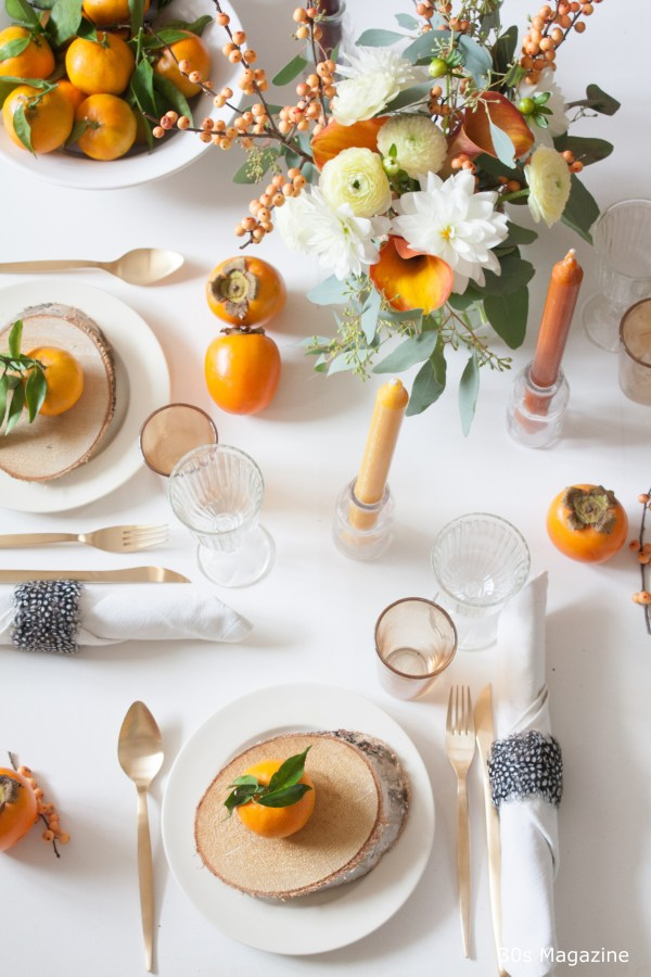 Thanksgiving tablesetting - 30s Magazine