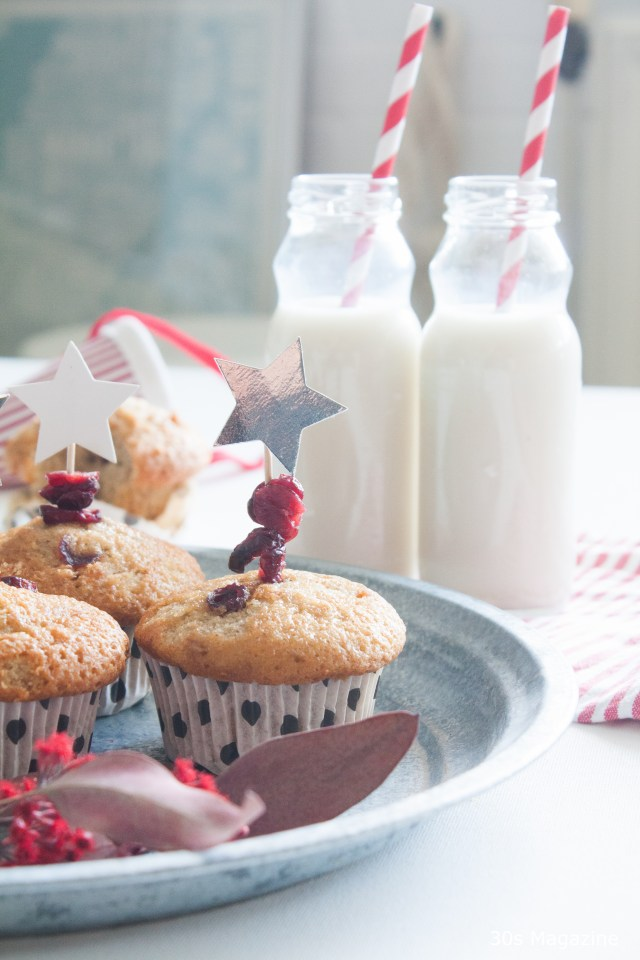 Cranberry, Walnuts and Orange Muffins