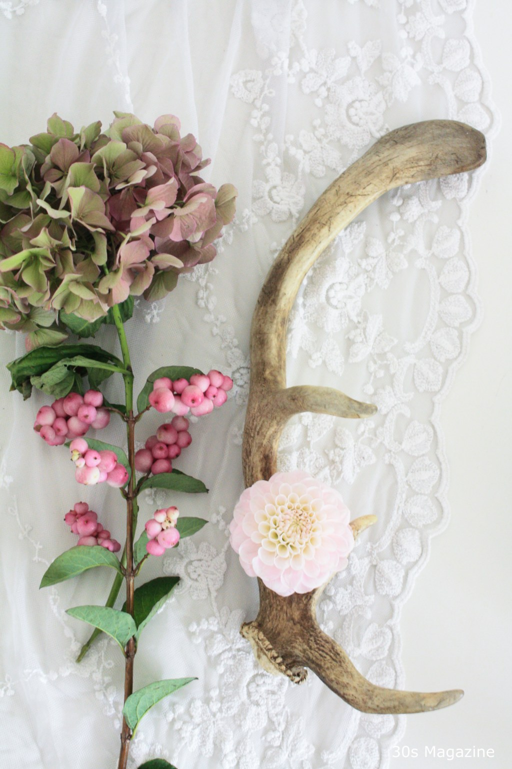 rustic christmas and flowers moodboard