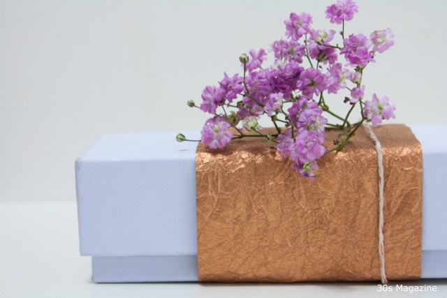 Christmas Gift Wrapping with Flowers
