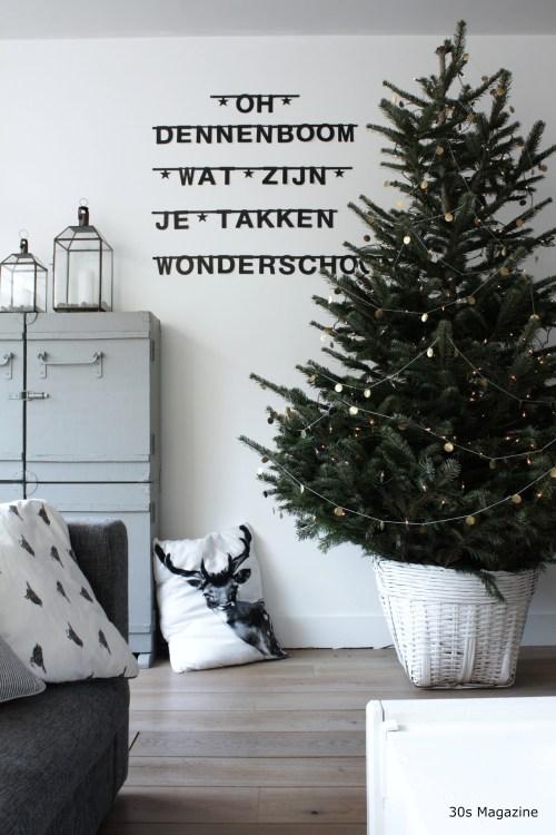 pared down christmas tree