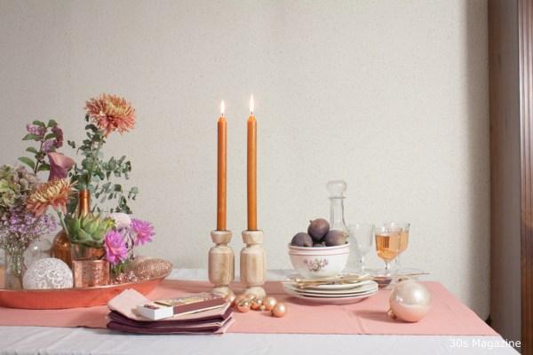 floral tablescape