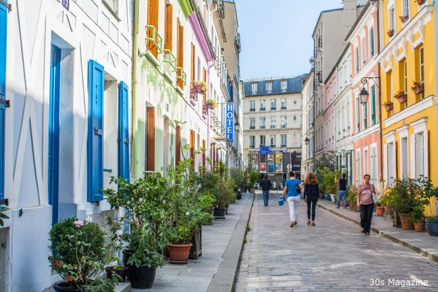 The most colorful street in Paris: Rue Cremieux
