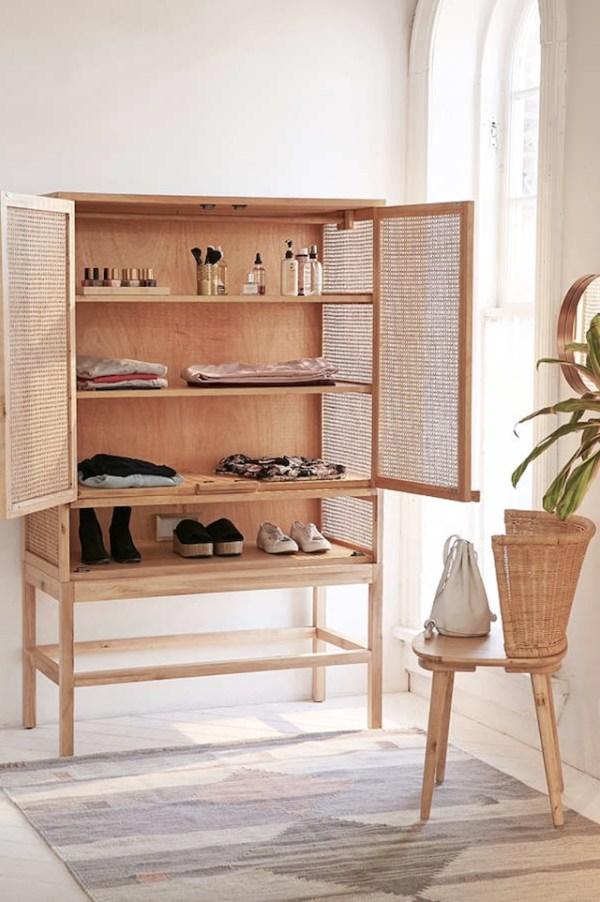 cane webbing cabinet