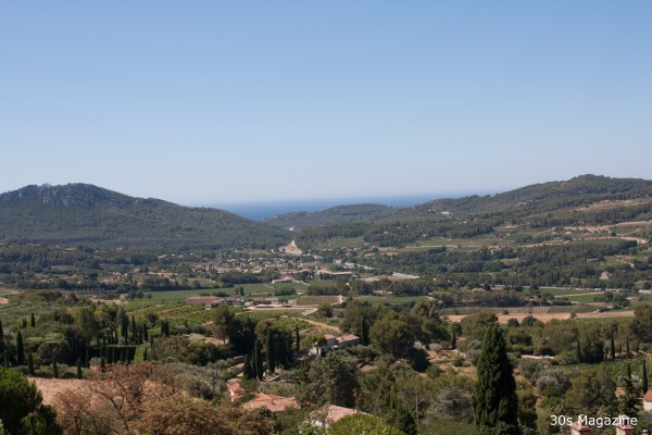 view from Le Castellet village in Provence