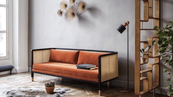cane webbing sofa