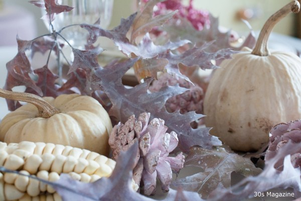 Pink Thanksgiving table decor