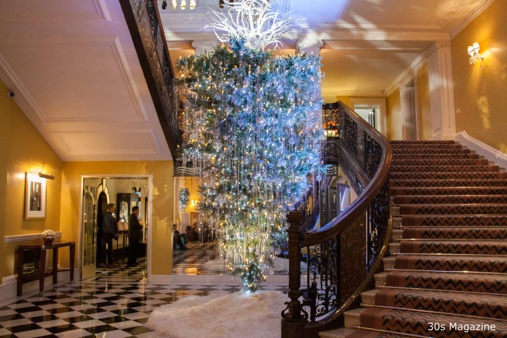 Clairidges Hotel at Christmas