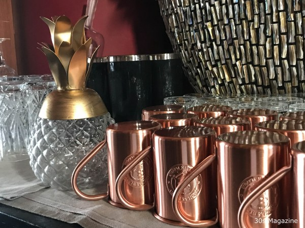 moscow mule cups at Gaia Amsterdam