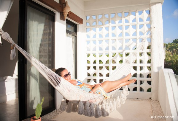 Louise in a Hammock at Icaco Island Village