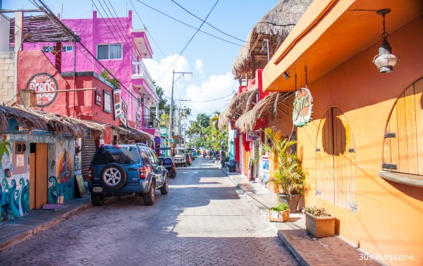 street in Isla Mujeres town