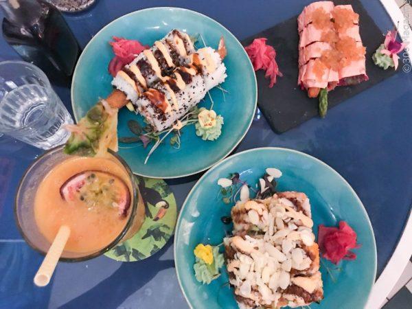 sushi rolls at Temakinho