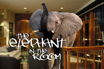 What happens when a 500 pound gorilla an elephant blind - Watch the elephant in the living room ...