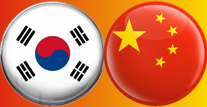 Resultado de imagem para China South Korea