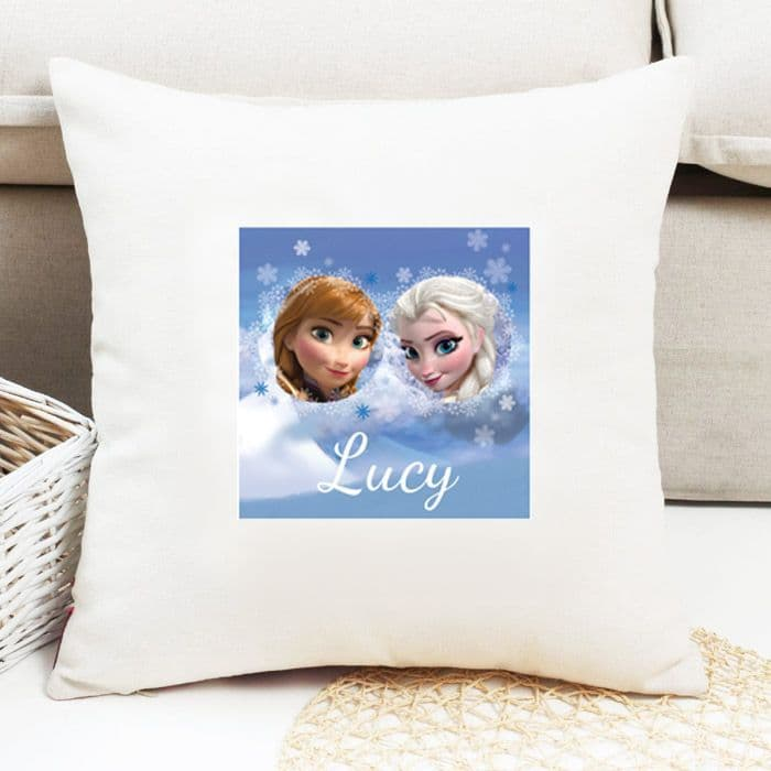 anna elsa personalised cushion frozen official disney licensed