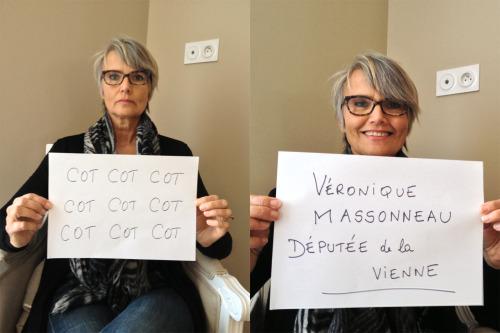 """""""Cot Cot Cot Cot CotCot Cot Cot Cot""""<br /><br /><br /><br /><br /><br /> Entendu par Véronique Massoneau, Députée de la Vienne."""