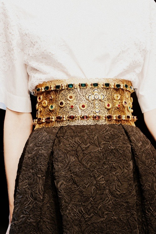 artdornment:</p> <p>Dolce & Gabbana Fall 2013