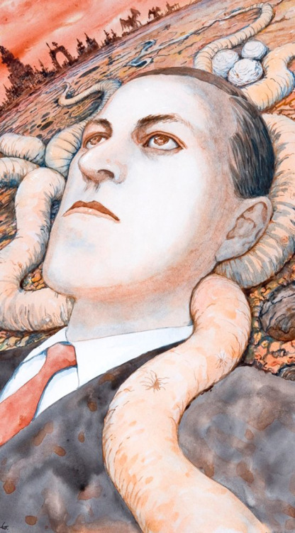 H.P. Lovecraft, portrait by Junji Ito.