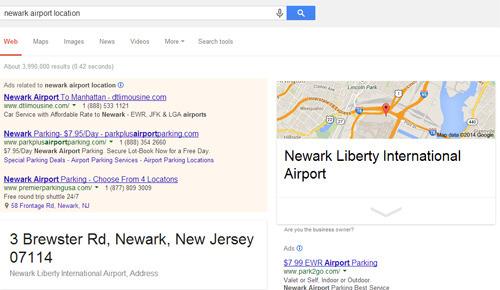 búsqueda local Google: ejemplo Nueva York