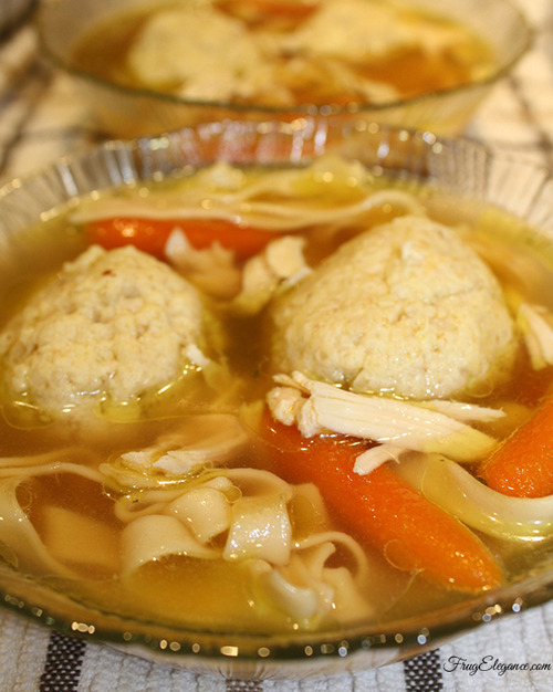 Best Matzah Ball Soup Recipe | FrugElegance | www.frugelegance.com