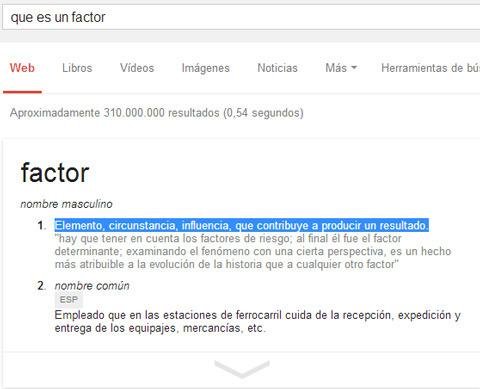 qué es un factor