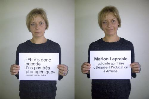 """""""Eh dis donc cocotte t'es pas très photogénique""""</p><br /><br /><br /><br /><br /> <p>Lu sur twitter par Marion Lepresle, Adjointe au Maire, déléguée à l'Éducation à Amiens."""