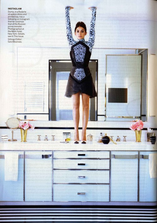 Mirroslava Duma in Vogue