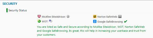la seguridad es un tema importante para sitios web