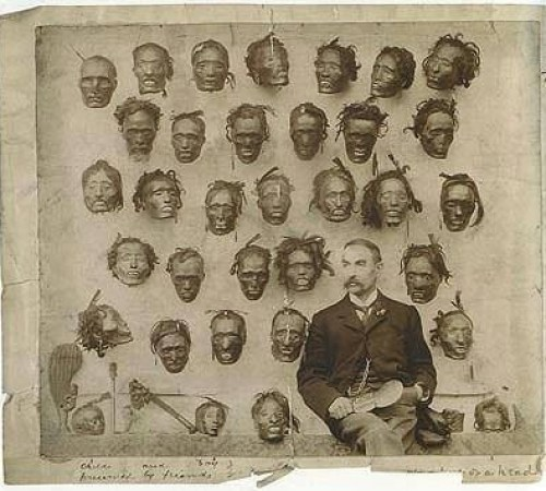 numbla:</p><p>missmarysmusings:</p><p>Lord Lugard, who named Nigeria after a suggestion from his wife, posing in front of decapitated Africans following a revolt.<br />Forgive them Mother, for they know what they do.</p><p>This is sick!</p><p>No words.