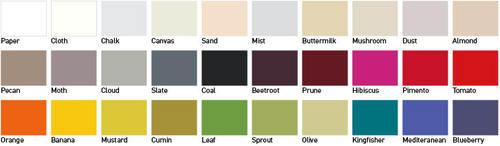 Habitat Paint Colours