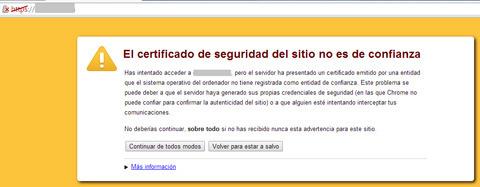 HTTPs: ejemplo falta Certificado de seguridad
