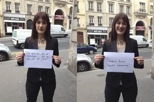 """""""Elle bosse bien, elle est redoutable, et en plus elle est jolie …""""</p><br /><br /><br /><br /><br /> <p>Entendu parSandrine Béllier, Députée Européenne."""