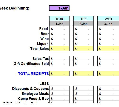 restaurant excel spreadsheets download. Black Bedroom Furniture Sets. Home Design Ideas