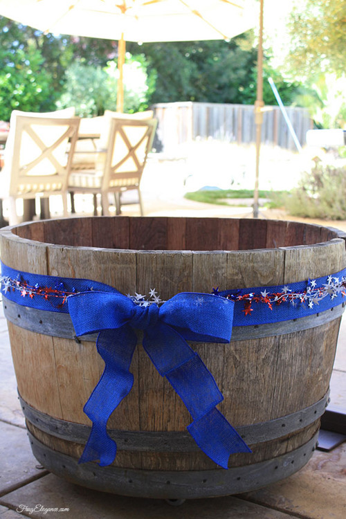 Diy Half Wine Barrel Beverage Tub Adding Wheels