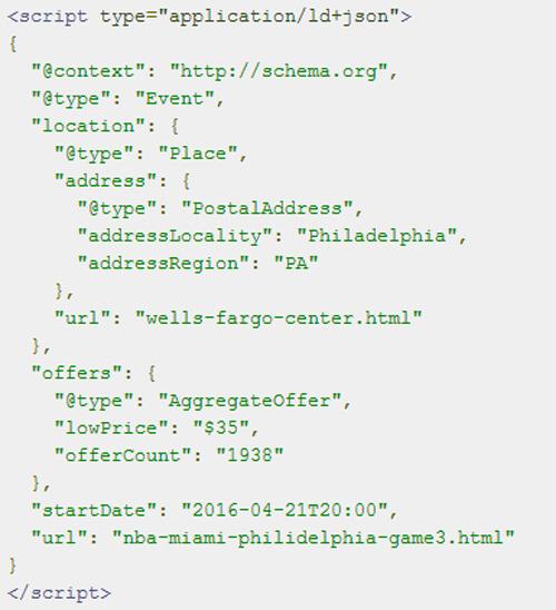 JSON-LD para insertar fragmentos enriquecidos a una página web
