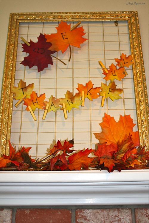 5 Easiest Give Thanks Home Decor Projects | FrugElegance | www.frugelegance.com