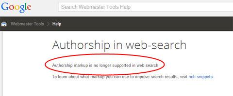 Google Authorship está muerto