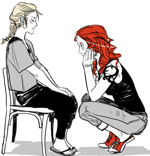 My birthday present from Cassandra JP — a scene from City of Heavenly Fire! Clary with little 12-year-old Emma.