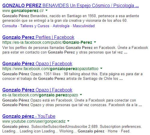 Gonzalo Pérez en Google
