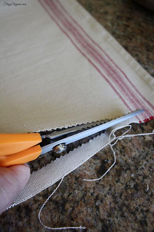 Easy DIY Table Runner by FrugElegance.com