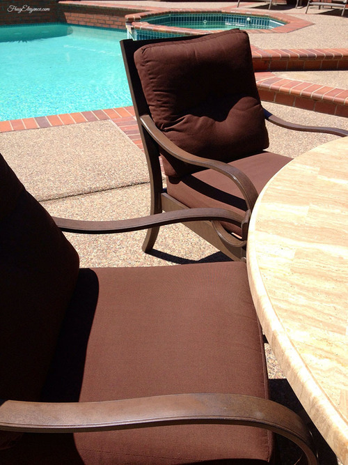 How to Clean Outdoor Furniture by FrugElegance