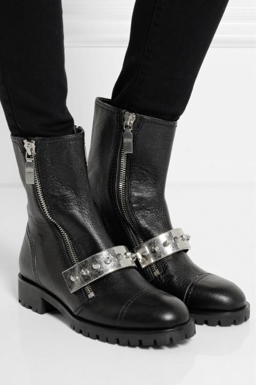 what-do-i-wear:</p><br /> <p>ALEXANDER MCQUEEN<br /><br /> Stud-embellished leather biker boots<br /><br /> $1,295</p><br /> <p>