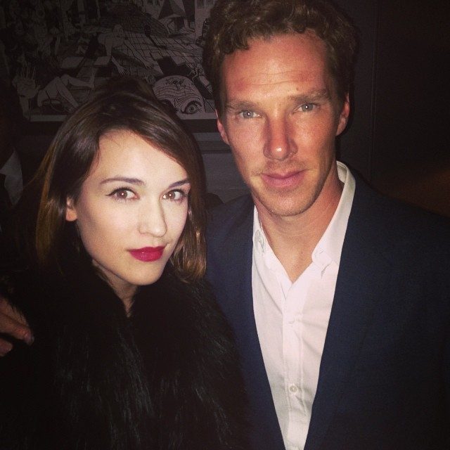 <br /> #latergram from last night, partying with Benedict Cumberbatch #casual #sunday<br />