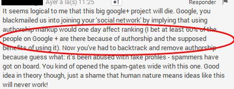 la mayoría de lso webmaster y empresas utilizan la capa socila de Google para mejorar los rankings de sus páginas